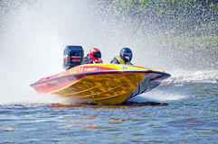 Speedboat in Action Royalty Free Stock Image