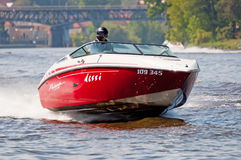 Speedboat in Action Stock Photo