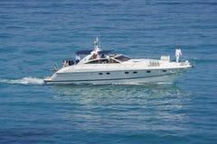 Speedboat in action. Saint-tropez, french riviera, mediterranean sea - adobe RGB Stock Photography