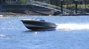 Speedboat action Stock Image