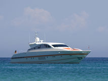 Speedboat at anchor. Saint-tropez, french riviera - adobe RGB stock images