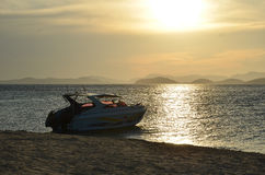 Speedboat on andaman sea in sunshine Royalty Free Stock Photos