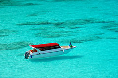 Speedboat on beautiful Sea Stock Image