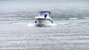 Speedboat close up stock footage