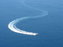 Speedboat cruising Royalty Free Stock Photography
