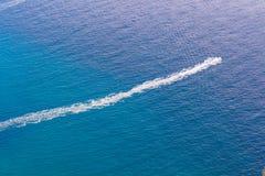 Speedboat cruising. Mediterranean Sea: The Speedboat cruising Stock Photos