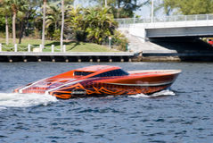 Speedboat in fort lauderdale florida Royalty Free Stock Image