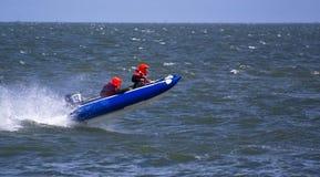 Speedboat Jumping Royalty Free Stock Photo