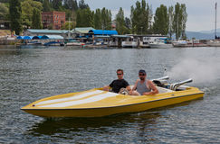 Speedboat in Marina Stock Image