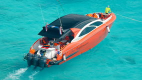 Speedboat near the beach Similan Islands stock video