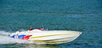 Speedboat at the nordsea Royalty Free Stock Photography
