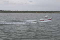 Speedboat Off the Outer Banks Stock Photo
