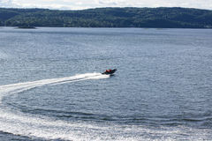 Speedboat in the Oslo Fjord Stock Images