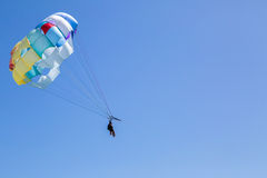Speedboat Parachute flying Royalty Free Stock Photography