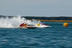 Speedboat Race. Speed boats at Wildwood Crest HydroFest 2009 - New Jersey Governor's Cup Boat race Stock Images