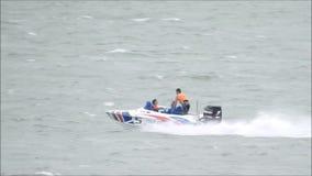Speedboat racing stock video footage