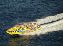 Speedboat rides in Cozumel, Mexico Stock Photography