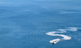 Speedboat on the sea Stock Photo