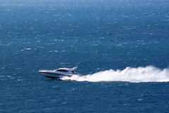 Speedboat. Speed boat for a weekend trip Stock Photo