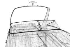 Speedboat, Speeding Powerboat Royalty Free Stock Image