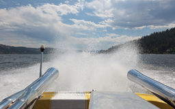 Speedboat Spray Stock Photos