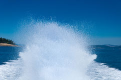 Speedboat spray Royalty Free Stock Photography