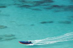 Speedboat on tropical sea Stock Image