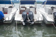 Speedboat is waiting customers for going to dive. In Thailand Stock Photo