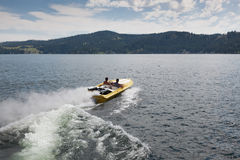 Speedboat Waves Royalty Free Stock Photography