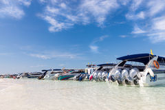 Speedboats at Poda Beach Royalty Free Stock Photo