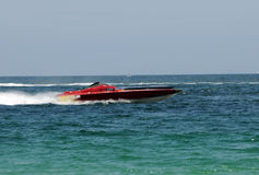 Speedboats racing Royalty Free Stock Photo
