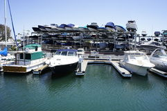 Speedboats For RENT. A group of Speedboats hang layer by layer is available for rent Stock Photography