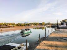 Speedboats sailed to sea. Speedboats sailed from marina to Andaman sea Royalty Free Stock Photography