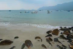 Speedboats on the sea in Con Dao island, Vung tau, Vietnam.  Stock Photo
