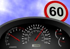 Speeding Royalty Free Stock Images