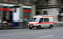 Speeding ambulance Stock Photos