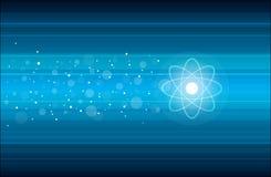 Speeding Atom Stock Photo