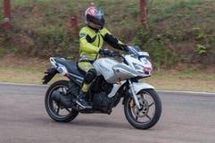 Speeding bike Stock Images