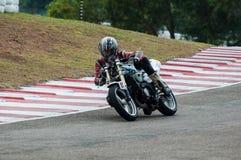 Speeding bike Stock Photo