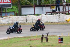 Speeding bikes Royalty Free Stock Images
