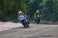 Speeding bikes Stock Photos
