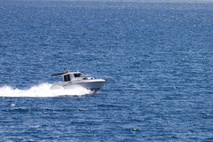 Speeding boat Royalty Free Stock Images