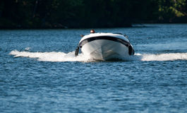 Speeding boat Royalty Free Stock Photo