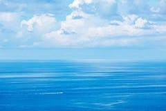 Speeding boat in sea stock photography