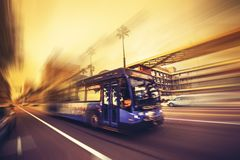 Speeding Bus Public Transport Royalty Free Stock Photography