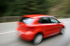Speeding car Royalty Free Stock Photography