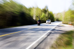 Speeding Car Royalty Free Stock Photography