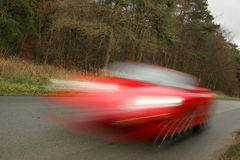 Speeding Car Royalty Free Stock Images