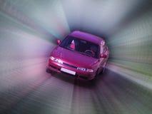 Speeding car. Digital art: illustration of speeding car stock illustration