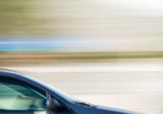 Speeding car Royalty Free Stock Photo